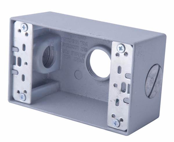 """Caja 2""""X4"""" Intemperie con Ko 1/2"""" Image"""