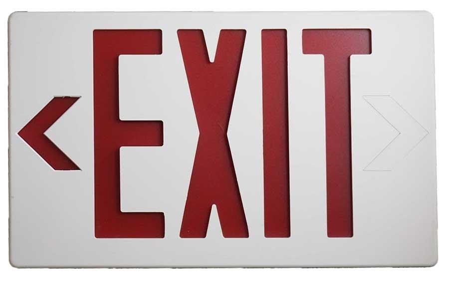 Luminaria de Señalización Led Exit Rojo Image
