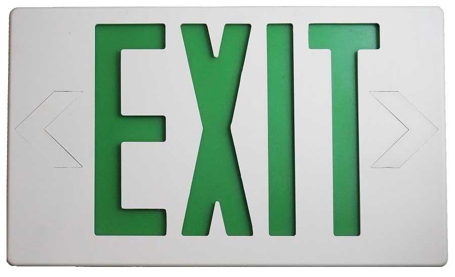 Luminaria de Señalización Led Exit Verde Image