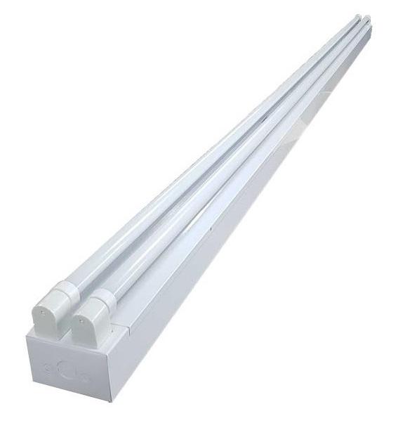 """Luminaria Canal Fluorescente de 2 tubos de 96"""" de largo  Image"""